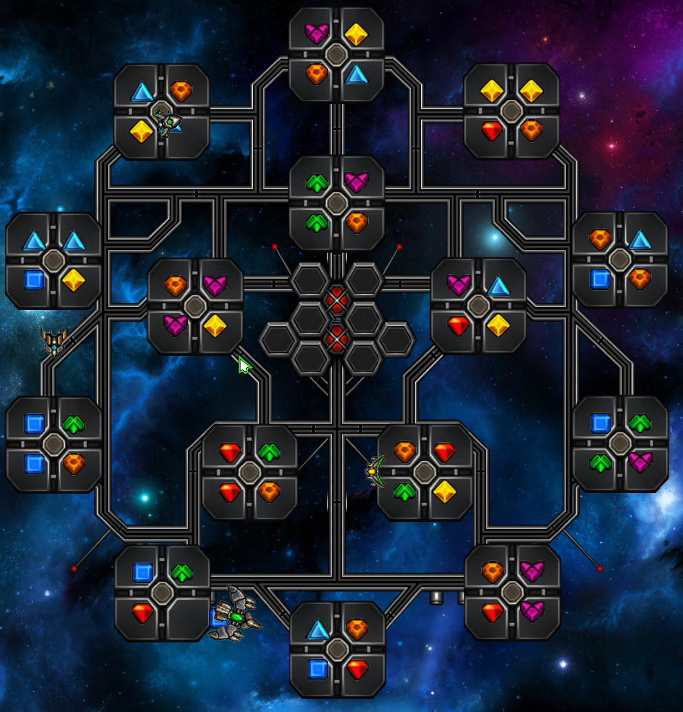 Sample screenshot of Puzzle Galaxies
